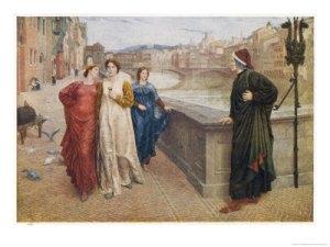 Dante ve pasar a Beatrice
