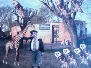 "Fotomontaje de Braulio Paz sobre el cuento ""La jirafa"""