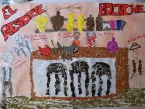 Collage de Pamela Martínez, sobre el Boliche EL RESORTE