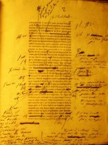 Uno de sus manuscritos.